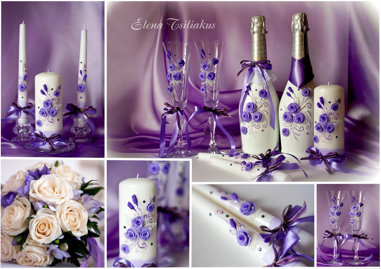 Бокалы бутылки свечи на свадьбу своими руками 73