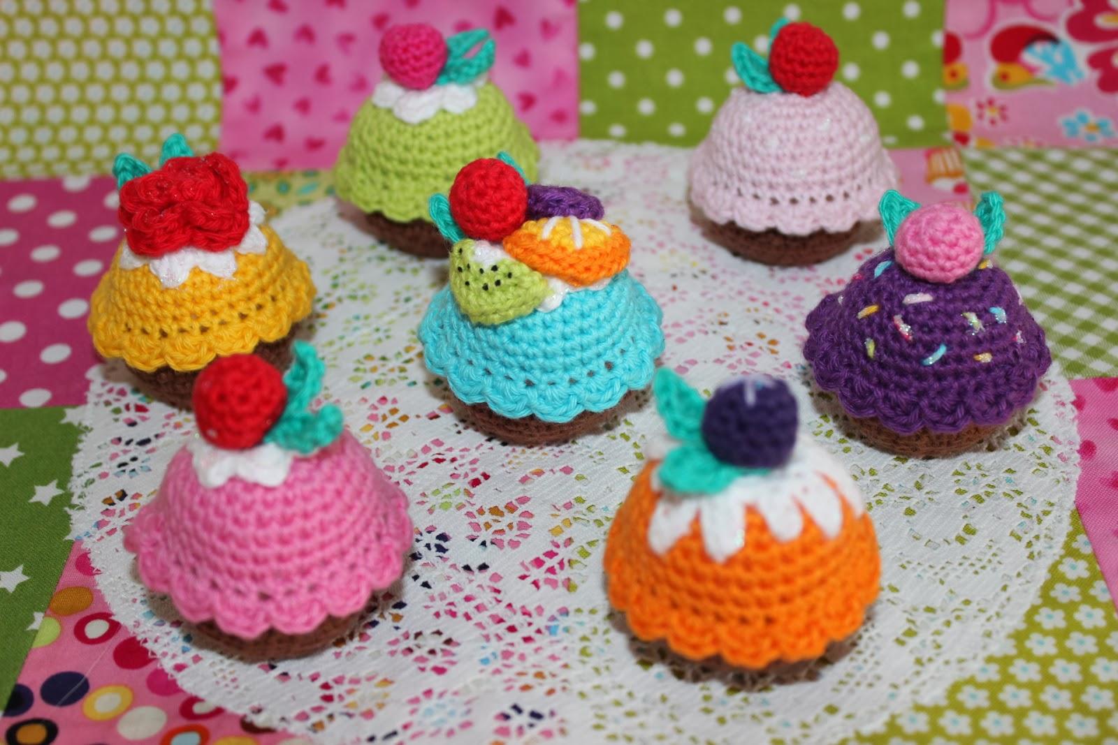 hæklede cupcakes opskrifter