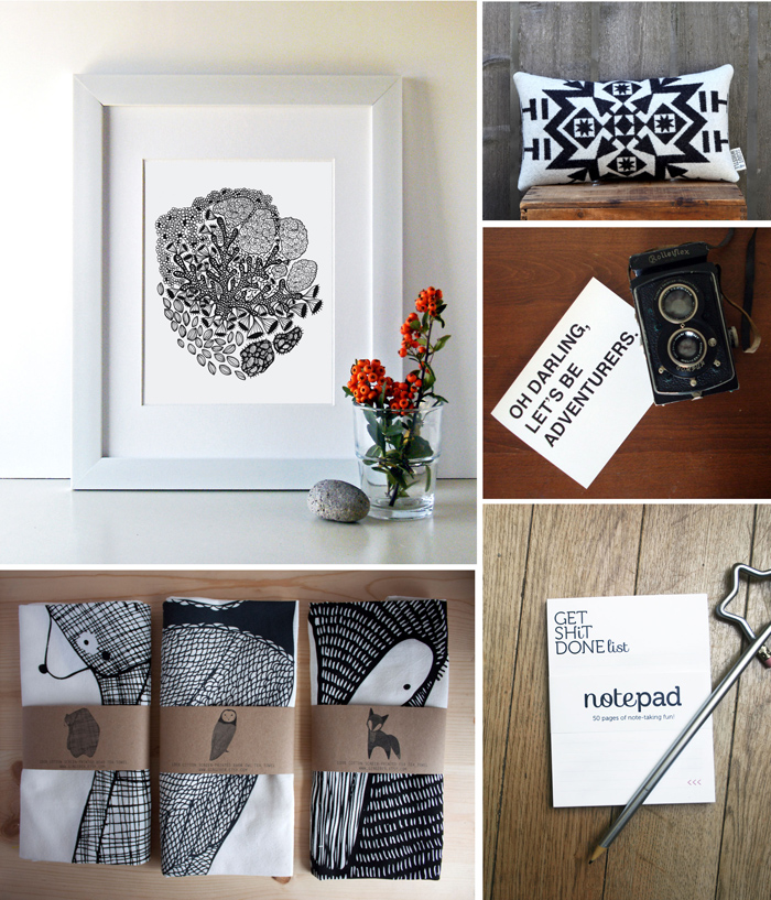 Today at the Marketplace: Black and White