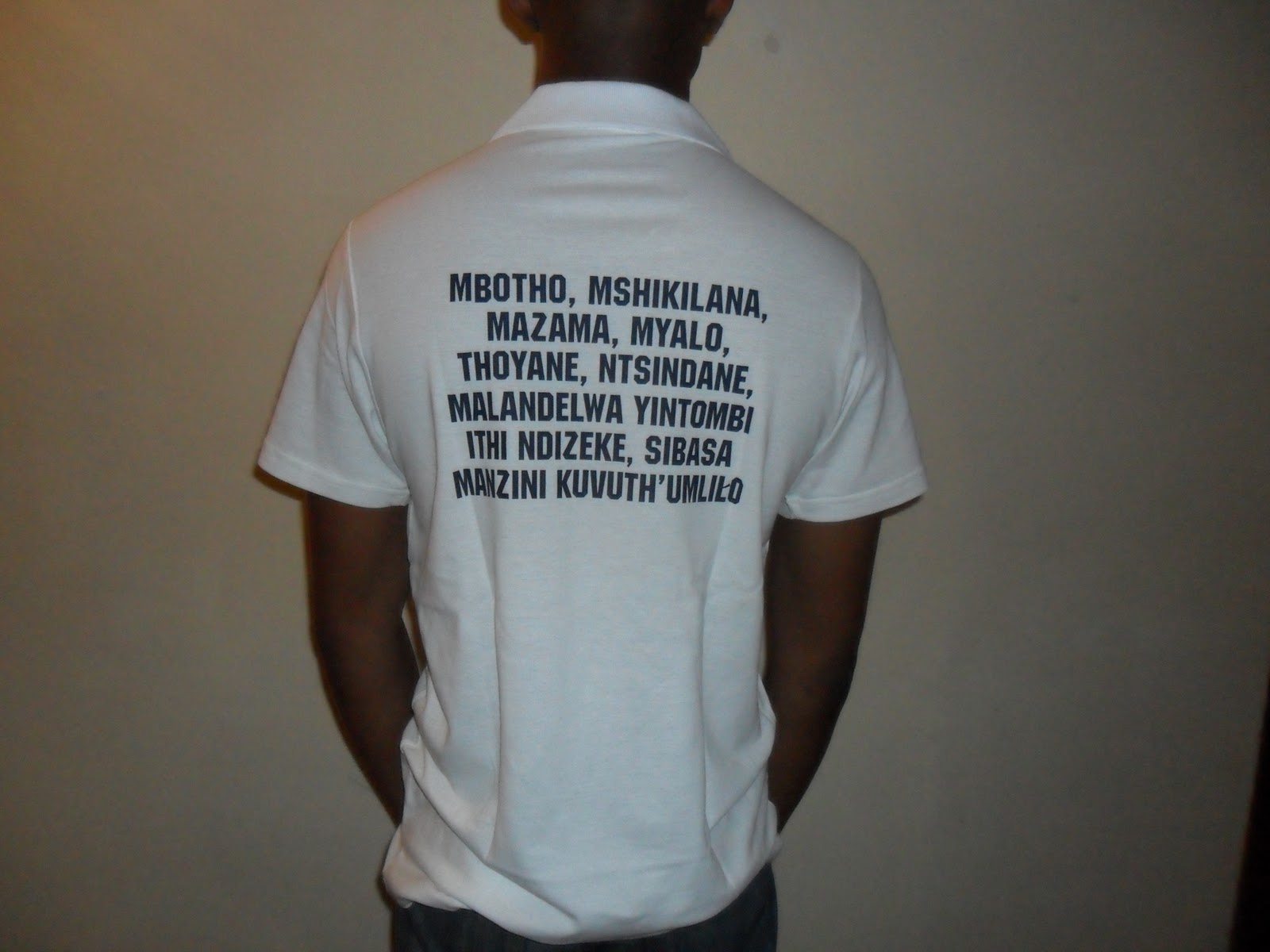 The organisers are encouraged to design t shirts for this gathering as it was done for the gathering in harding kzn the current mbotho emblem can be used