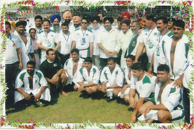Pakistani Kabbadi team with Officials and Indian Management
