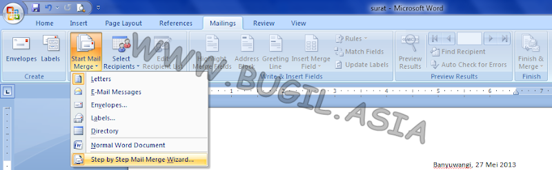 Step by Step Mail Merge Wizard