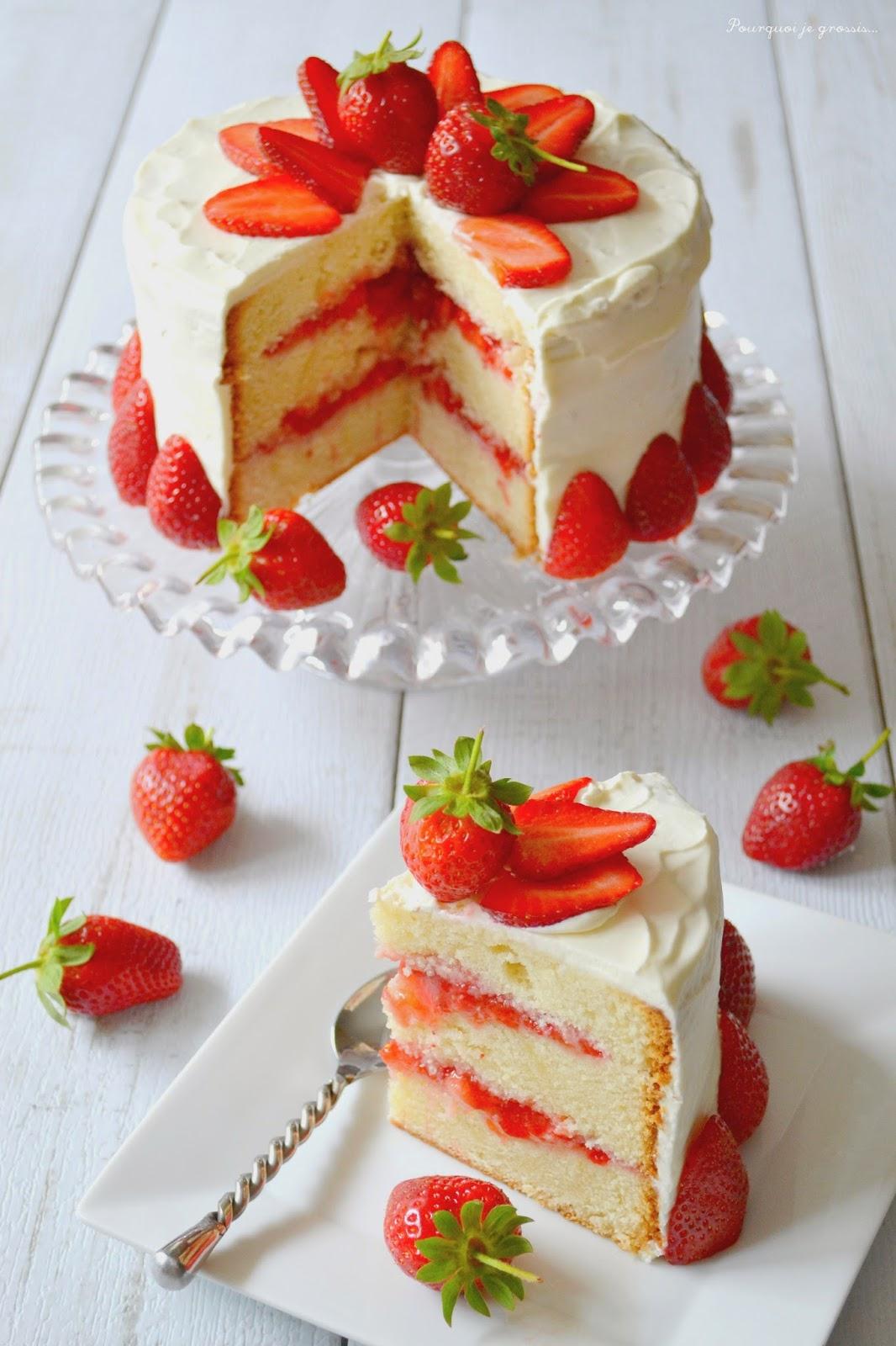Layer Cake Fraises Citron