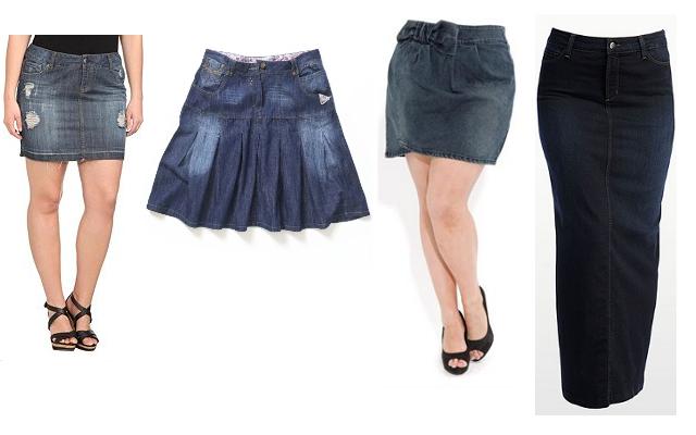 WaitUntilTheSunset: Fatshion Faceoff: Denim Skirt