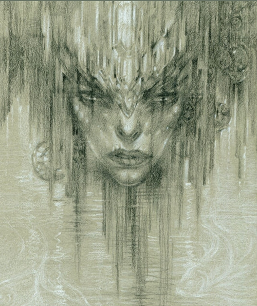 20-The-Underground-Lake-Olga-Anwaraidd-Drawings-Fantasy-Portraits-Imaginary-Characters-www-designstack-co