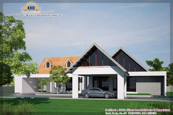 269 Square meter (2900 Sq. Ft. Single Floor House Elevation - October 2011)