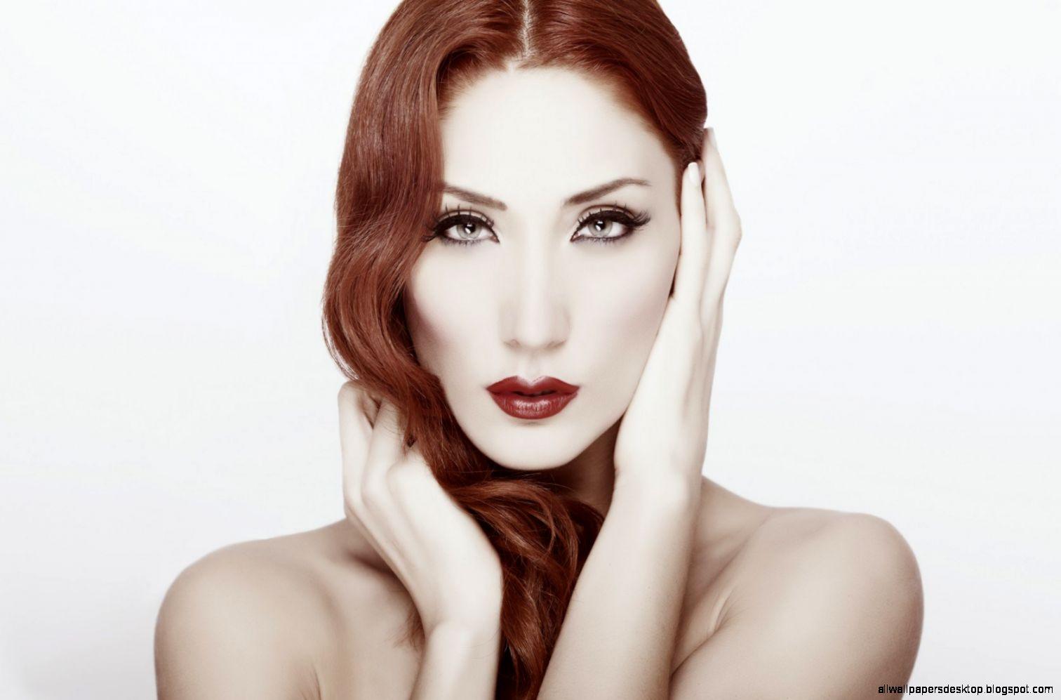 Lovely Girl Redhead Makeup wallpaper  1680x1050  20248