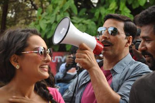 Sonakshi Sinha and Akshay Kumar promote upcoming movie Rowdy Rathore