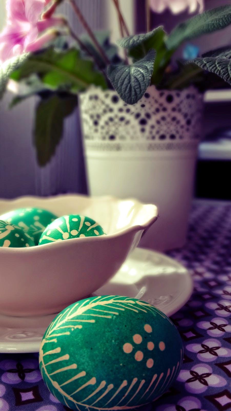 woskowe jajka na wielkanoc
