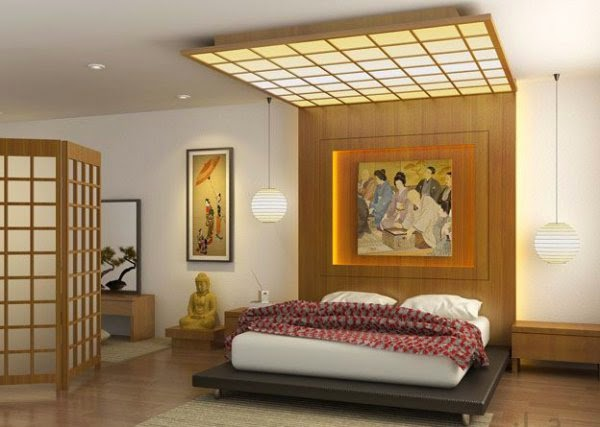 Japanese style platform bed, Bedroom ceiling designs