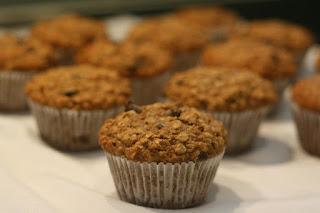 Applesauce Oatmeal Banana Muffins