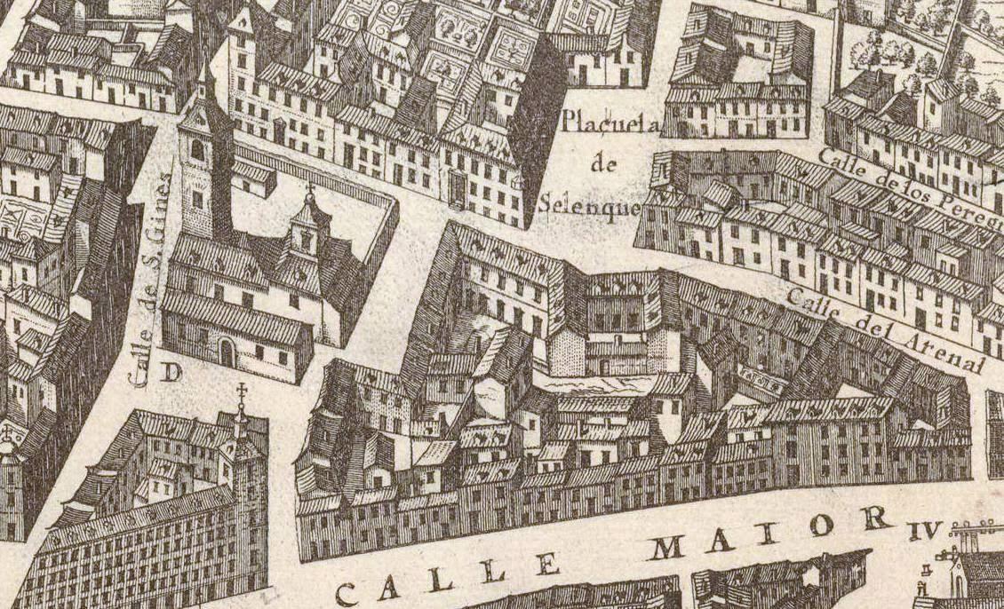 Detalle del Plano de Teixeira 1656
