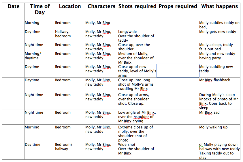 Film Shooting Schedule Images - Reverse Search