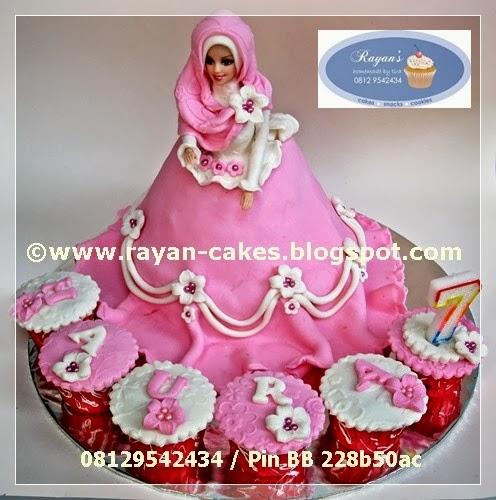 Muslimah+Doll+Cake+Barbie+Cake+jilbab+hijab+Birthday+cake+Kue+ulang ...