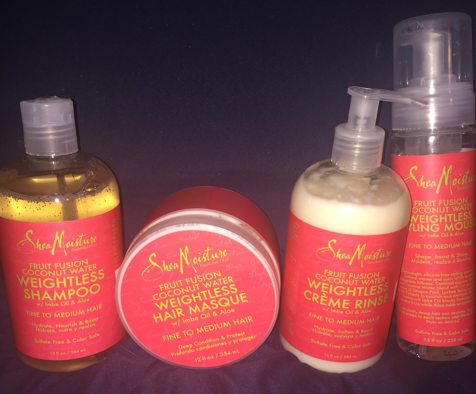 Sheamoisture Fruit Fusion Hair Care First Use First