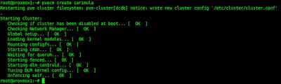 Sukses membuat cluster