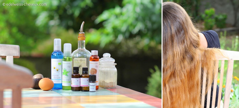 Faire un soin naturel pour cheveux sec