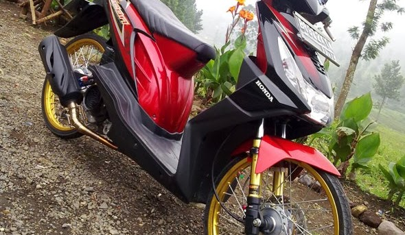 mengenai Kumpulan Foto dan Gambar Honda Beat Modifikasi Velg Jari-Jari