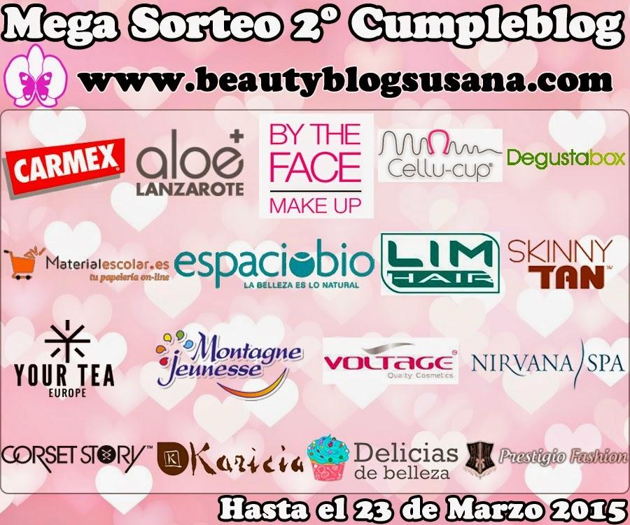 mega sorteo 2º cumpleblog www.beautyblogsusana.com