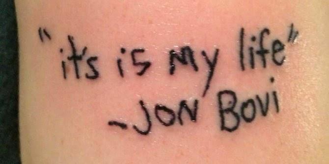 Salah Tulis, Tato Judul Lagu Bon Jovi Menjadi Viral Dunia