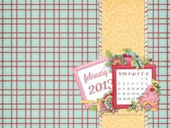 february 2013 desktop calendar sample