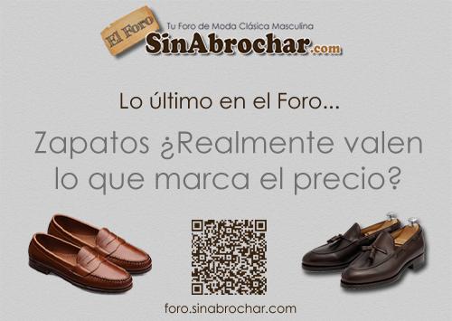 Lo último en el Foro: Zapatos. ¿Realmente valen lo que marca el precio?