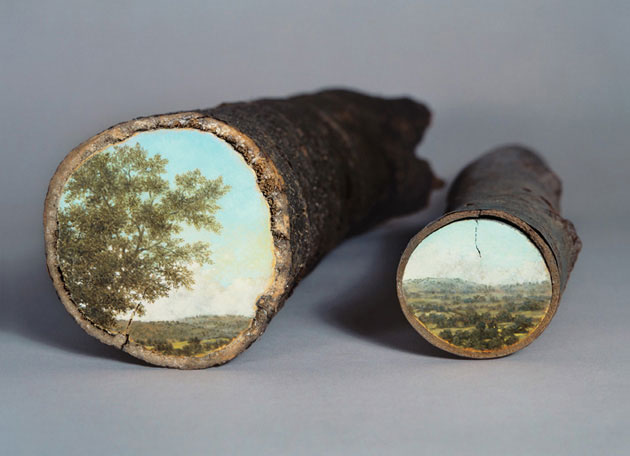 05-Log-Series-Alison-Moritsugu-Landscape-Painting-on-Tree-Logs-www-designstack-co