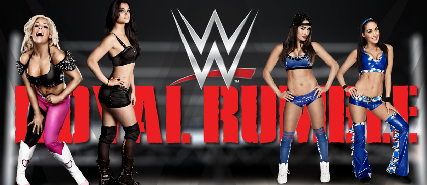 historica pelea de divas entre natalya paige vs the bella twins en royal rumble