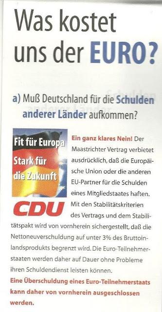 CDU Wahlplakat zur Euro Einführung 1999