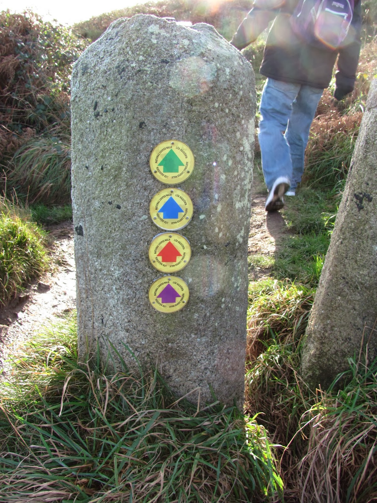 Color-Coded Trails are Well-Marked in Howth, Co. Dublin, Ireland