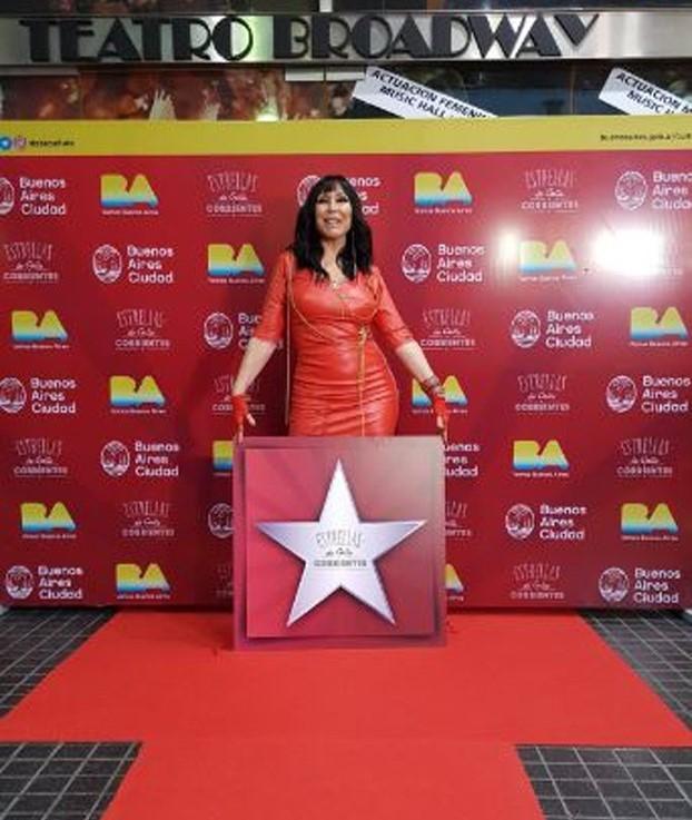 * Al estilo Hollywood: Moria Casán tiene su propia estrella
