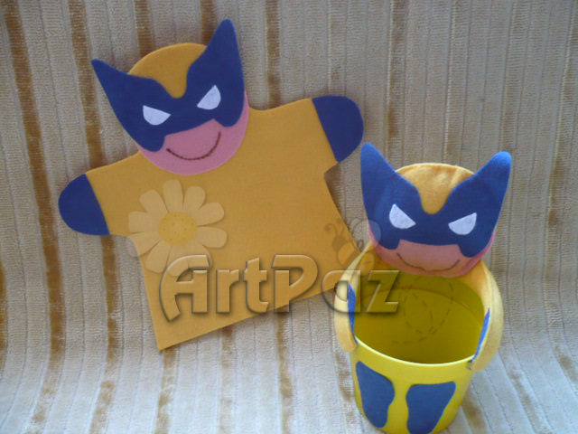 Fantoche e centro de mesa Wolverine  Super Heróis  Liga da Justiça