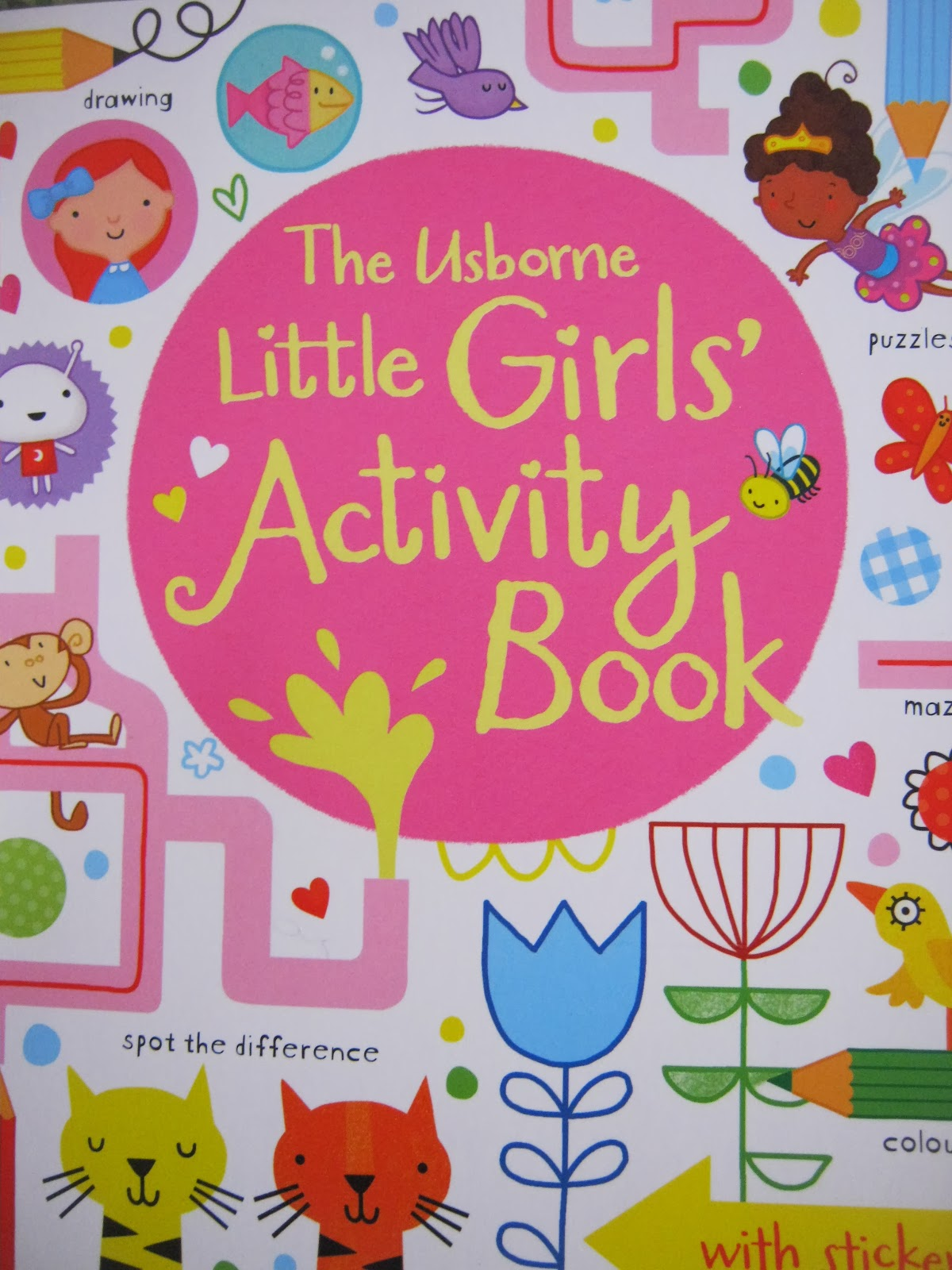 Girls activity book  usborne