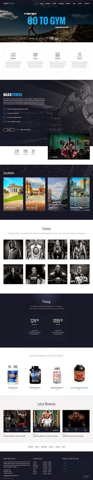 Best Responsive Fitness Business Joomla Template