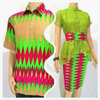 Baju Pasangan Muslim Gamis Batik