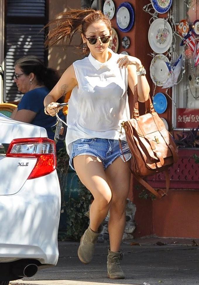 Brenda Song Booty in Shorts, Shopping in Studio City