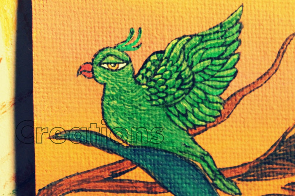 Detailing of my miniature parakeet. parrot, rachana saurabh, india