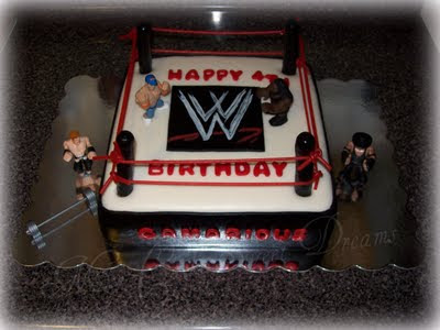 WWE Wrestling Ring Birthday Cake