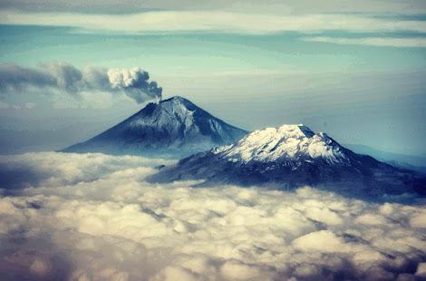Twitter FelipeCalderon Volcán Popocatépetl