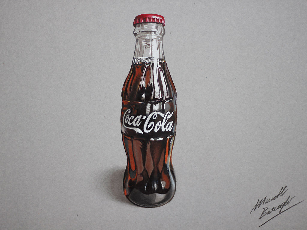 Marcello Barenghi: Drawing a Coca-Cola bottle