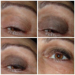 maquillaje de ojos marron gris paso a paso