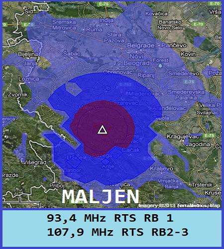Mapa pokrivenosti Maljen
