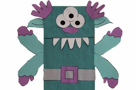 Paper Bag Alien Monster Puppet