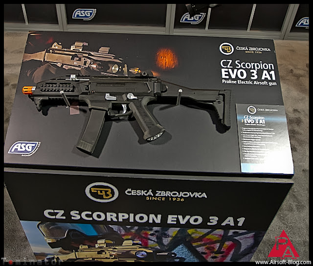 ASG CZ Scorpion Evo 3 A1 Prototype, Shot Show 2012, CZ Scorpion Evo, ASG Scorpion, Airsoft AEG, ActionSportGames, Pyramyd Airsoft Blog, Tom Harris Media, Tominator