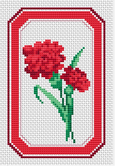 Ohio Symbol red carnations