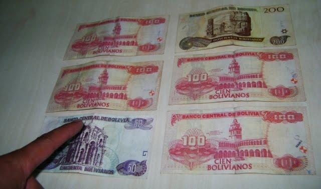 Dinero falso en Bolivia