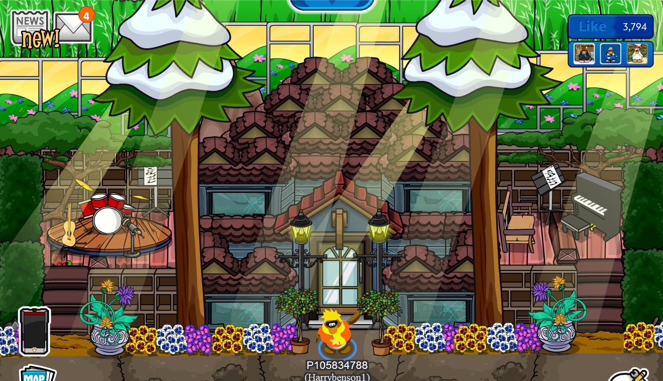 Club penguin igloo ideas october 2013 for House music lovers