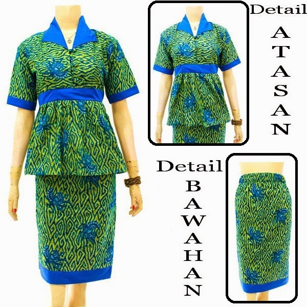 DB3834 Model Baju Dress Batik Modern Terbaru 2014
