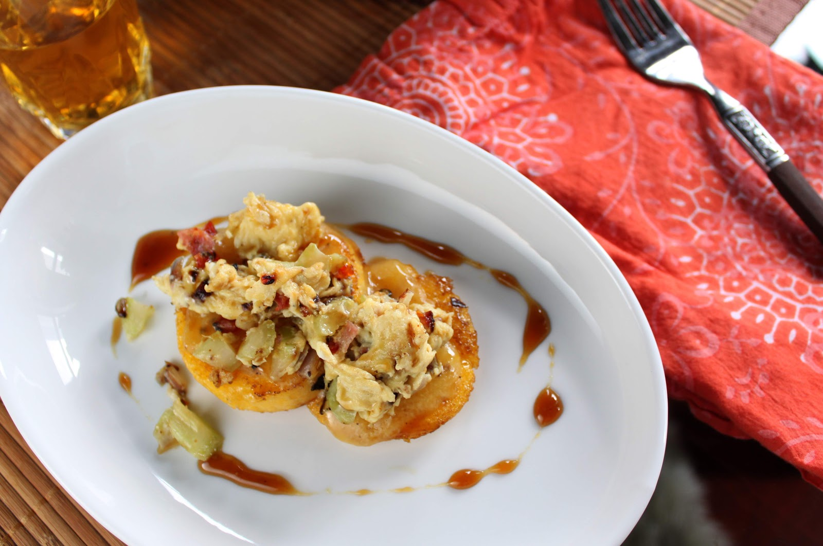 Fat and Happy Blog: Breakfast Polenta Bruschetta with Maple Caramel ...