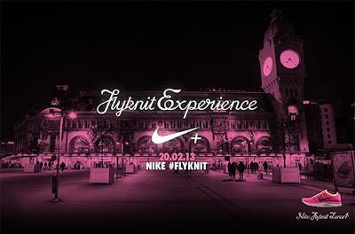 evenement Nike Gare de Lyon Running Flyknit Lunar +1